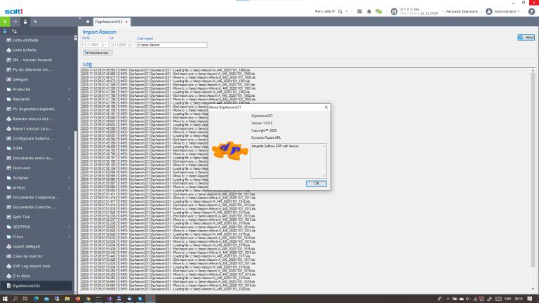 DypAsscon2S1 Softone ERP addon Asscon integration