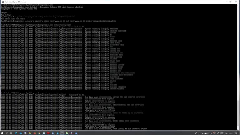 Softone ERP addon - Magento integration - command line